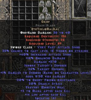 Grief Phase Blade - 40% IAS & 360-389 Damage