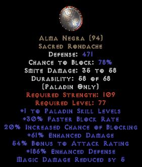 Alma Negra +1 skill & 60+ ed