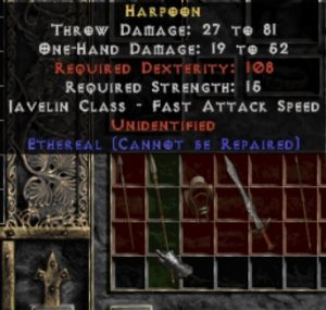 10x Unid Rare Harpoon Ethereal