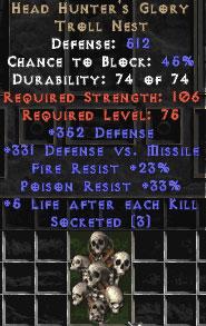 Head Hunter's Glory - 3 Sockets