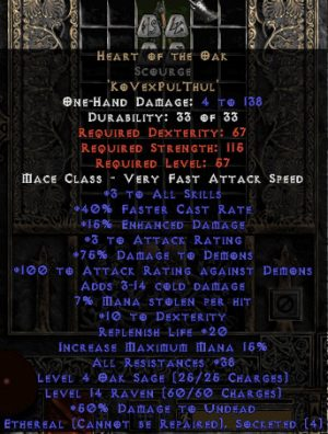 Heart of the Oak Scourge - Ethereal - 35-39 Res