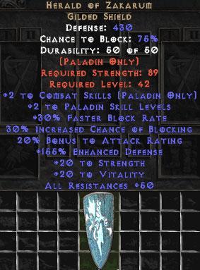 Herald of Zakarum - 150-179% ED