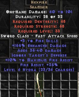 Hexfire - 160% ED - Perfect