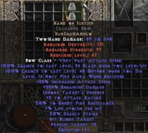 Hand of Justice Crusader Bow - 280-329% ED
