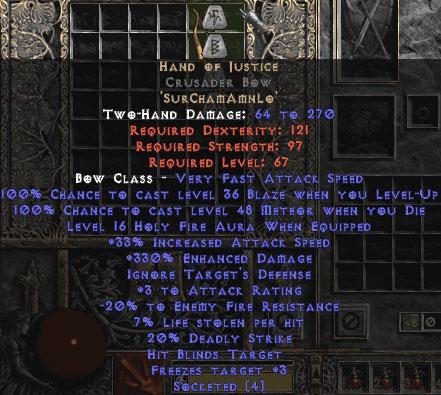 Hand of Justice Crusader Bow - 330-344% ED
