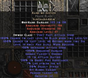 Hand of Justice Phase Blade - 280-329% ED