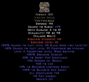 Phoenix Vortex Shield 45 All Res - 380-399% ED