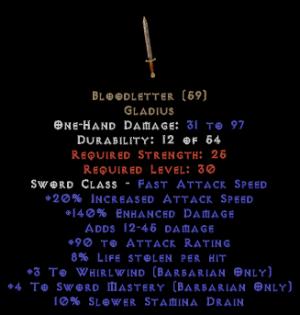 Bloodletter - 4 SM