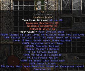 Ice Crusader Bow - 190-209% ED & 30% CSD