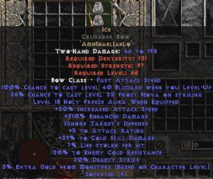 Ice Crusader Bow - 210-224% ED & 25-29% CSD