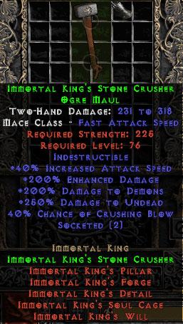 Immortal King's Stone Crusher - 40% CB - Perfect