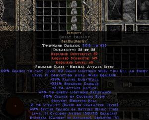Infinity Great Poleaxe - Ethereal - 295-324% ED & -45-54% ELR