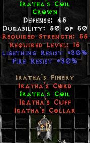 Iratha's Coil - 45 Def - Perfect