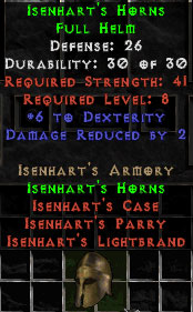 Isenhart's Horns - 26 Def - Perfect