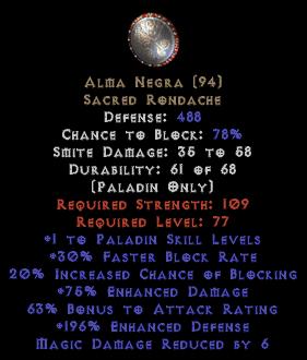 Alma Negra - 1 Skills/75% EDmg
