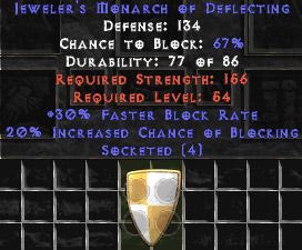 Jeweler's Monarch of Deflecting - 133-147 Def - Jmod