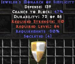Jeweler's Monarch of Simplicity - 133-147 Def - 30% Req - Jmos