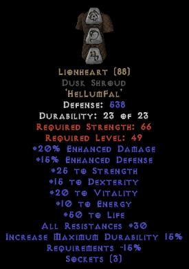 Lionheart Dusk Shroud