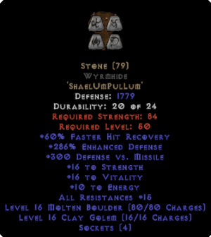 Stone Wyrmhide - 290% ED - Perfect