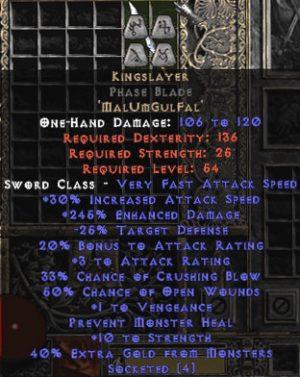 Kingslayer Phase Blade - 230-264% ED