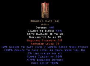 Medusa's Gaze - 80% Cold Resist
