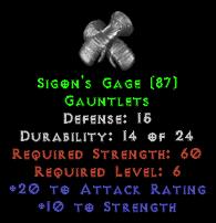 Sigon's Gage - 15 Def - Perfect