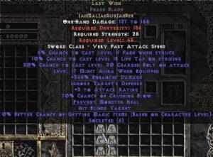Last Wish Phase Blade - 330-359% ED & 70% CB