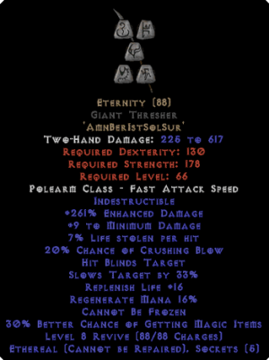 Eternity - Giant Thresher - Ethereal - 260-289% ED