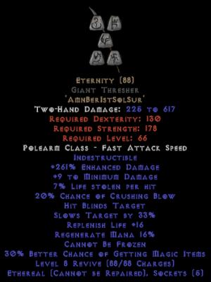 Eternity - Giant Thresher - Ethereal - 260-289% ED