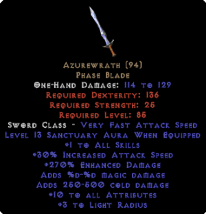 Azurewrath - 270% ED & 13 Sanctuary & 10 ATR - Perfect