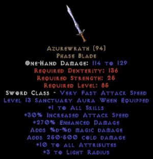Azurewrath - 270% ED & 13 Sanctuary