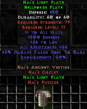 Naj's Light Plate - 830 Def - Perfect