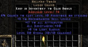 Necromancer Hellfire 20 Resist All/17-19 Stats