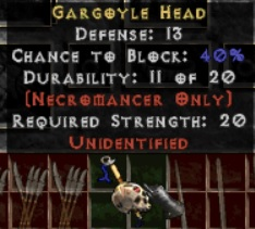 10 x Unid Rare Necromancer Head
