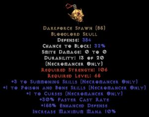 Darkforce Spawn +3 P&B & Summoning Skills