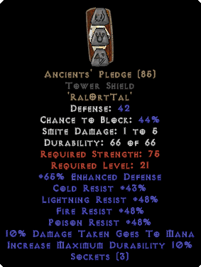Ancients' Pledge Tower Shield
