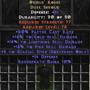 Ormus' Robes +15% to all 3 skills