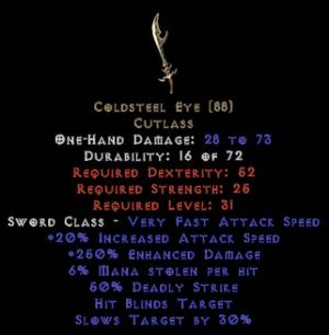 Coldsteel Eye - 250% ED - Perfect