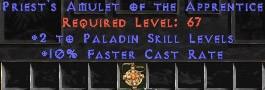 Paladin Amulet - 2 All Pal Skills & 10% FCR