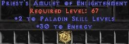Paladin Amulet - 2 All Pal Skills & 30 Energy
