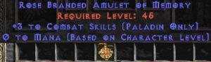 Paladin Amulet - 3 Combat Skills & 0.75 MPL