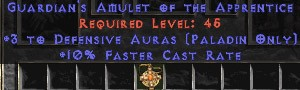 Paladin Amulet - 3 Defensive Auras & 10% FCR