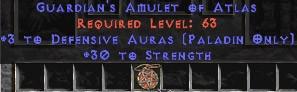 Paladin Amulet - 3 Defensive Auras & 30 Str