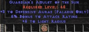 Paladin Amulet - 3 Defensive Auras & 5% AR