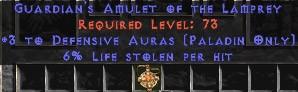 Paladin Amulet - 3 Defensive Auras & 6% LL