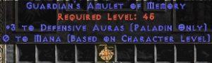 Paladin Amulet - 3 Defensive Auras & 0.75 MPL