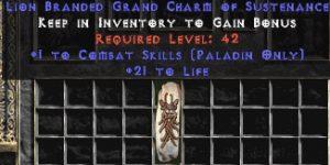 Paladin Combat Skills w/ 21-29 Life GC