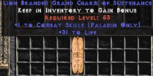 Paladin Combat Skills w/ 31-34 Life GC