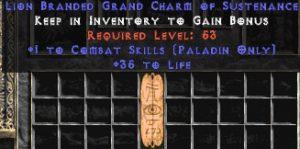 Paladin Combat Skills w/ 35 Life GC