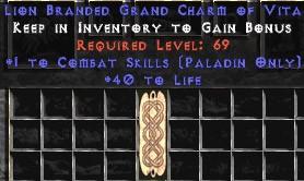 Paladin Combat Skills w/ 40 Life GC
